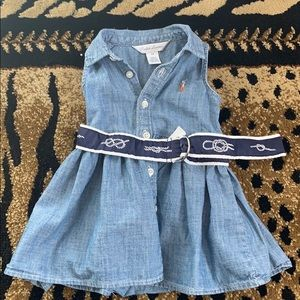 Matching baby girl dress with bloomers